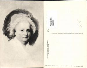 631873,Künstler Ak Gilbert Stuart Portrait of Martha Washington Politik