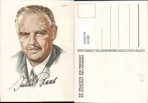 631882,Künstler Ak Aigner Julius Raab Politik