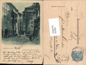 623299,Künstler AK Hans Christiansen Innsbruck Der alte Stadtplatz 1902