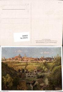 636042,Künstler Ak Ludwig Mößler Rothenburg ob der Tauber Gesamtansicht