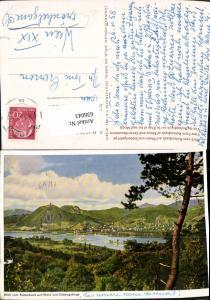 636043,Remagen Blick v. Rolandseck auf Rhein u. Siebengebirge