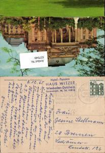Stempel Hotel Pension Haus Witzer Wiesbaden Dotzheim n. Bremen 1