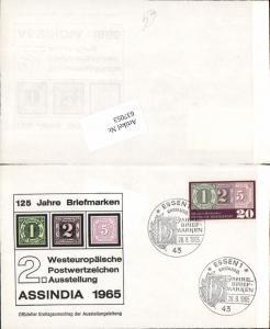 637053,Stempel Essen Erstausgabe 1965 Briefmarken Ausstellung Assindia