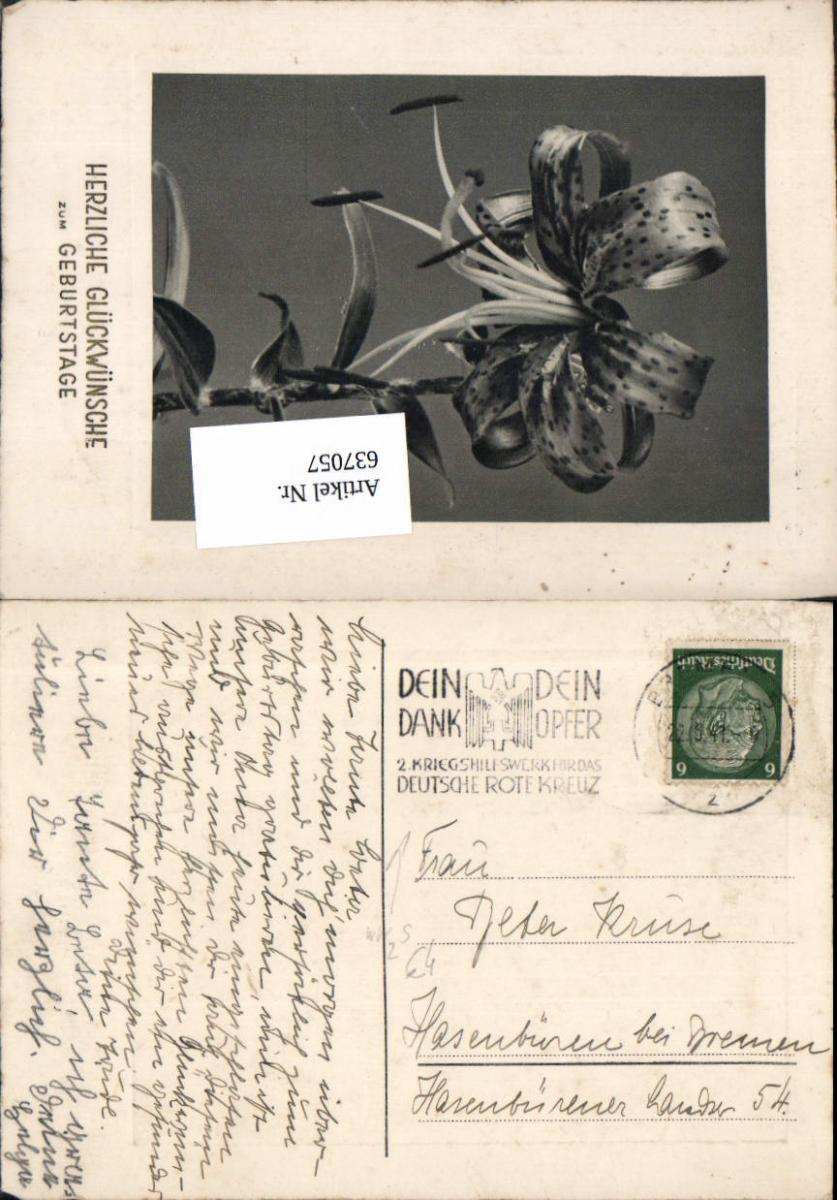 637057,Stempel Bremen Hasenbüren Bremen 1941 0