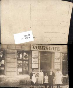 637120,Foto AK Dresden Volkscafe J. Gessl Gasthaus Bäckerei Bäcker
