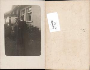 637134,Foto-AK Haus Mann Frau
