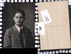 637142,Foto-AK Photogravur Atelier Karl Weiss Buchen Mann Anzug Portrait