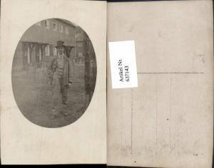 637143,Foto-AK Mann Hut Zylinder