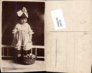 637152,Foto-AK Kind Haarschlaufe Korb pub Atelier Stella Wien Brigittenau