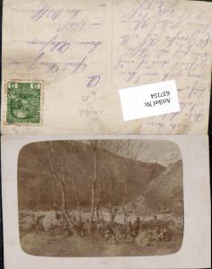 637154,K.K. Soldaten in Tirol Landeck Umgebung Unterstand Gefecht 1916