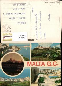 636303,Mehrbild Ak Malta G. C. Grand Harbour St Pauls Bay Mdina