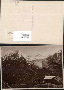 351069,Cabane de Chanrion Mont Avril et Clacier de Durand Bergkulisse Kt Wallis
