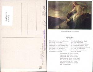 171184,Liedkarte Die Loreley Heinrich Heine sign A. Volkhofen jr.