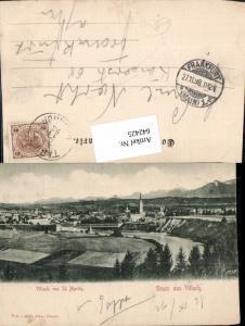 Gruß aus Villach St. Martin 1898 pub Math. Fürst Stp. Tarvis Tarvisio Bahnhof 1898
