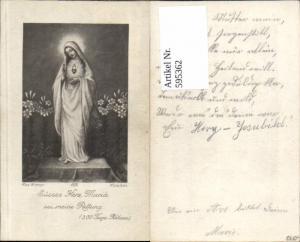 595362,Andachtsbild Heiligenbildchen Max Hirmer Süsses Herz Maria