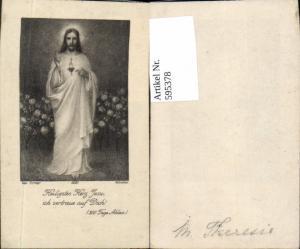 595378,Andachtsbild Heiligenbildchen Max Hirmer Heilige Herz Jesu