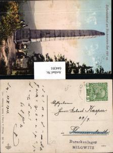 K.K. Feldpost Barackenlager Milowitz n. Theresienstadt  Stifterdenkmal Blöckenstein See