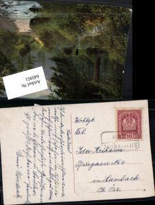 645951,Stempel Steyrermühl Laakirchen Kastenstempel n. Lambach 1918