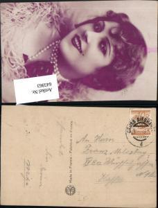 Stempel Groß Siegharts n. Wien Fünfhaus Rudolfsheim Erotik Glamour Perlenkette Frau