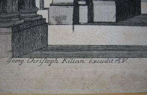 Georg Christoph Kilian Vue d'un Prospet d'Egypte Orig Kupferstich 1760 0