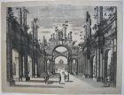 Georg Christoph Kilian Vue d'un Prospet d'Egypte Orig Kupferstich 1760 1