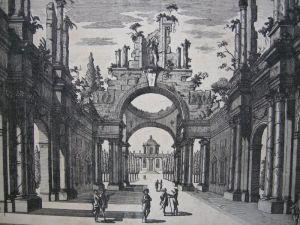 Georg Christoph Kilian Vue d'un Prospet d'Egypte Orig Kupferstich 1760 2