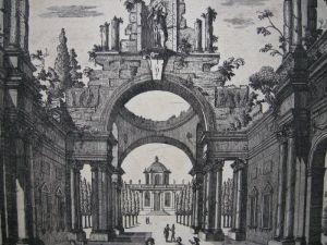 Georg Christoph Kilian Vue d'un Prospet d'Egypte Orig Kupferstich 1760 3