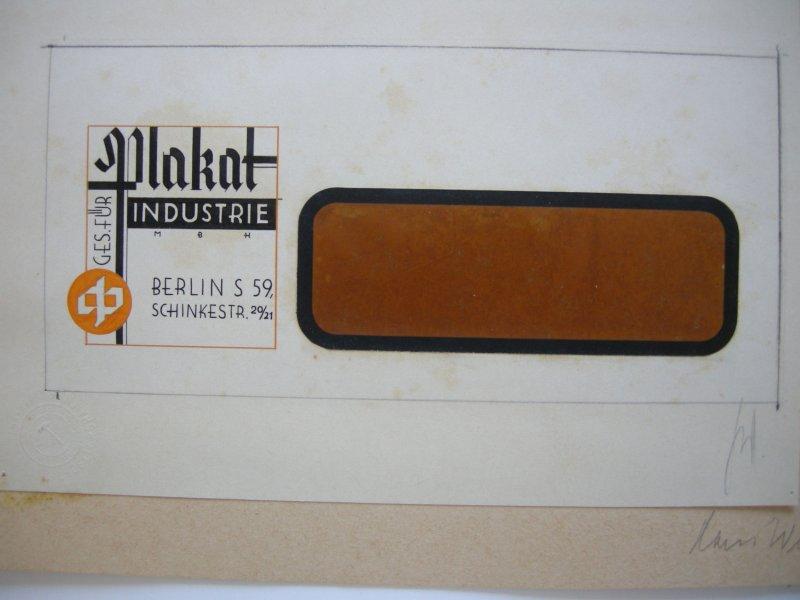 Hans Wehnert Graphiker Leipzig 2 Briefköpfe Plakat-Industrie Orig Entwürfe 1930