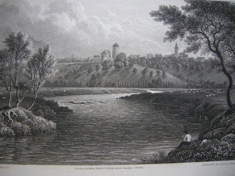 Trendelburg Hessen Kassel Org. Stahlstich Byrne 1828