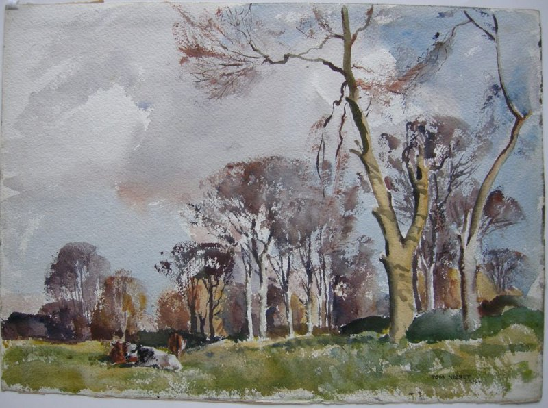 Tom Nisbet (1909-2001) Spring in the fields Clonskeagh Donnybrook 1960 Irland
