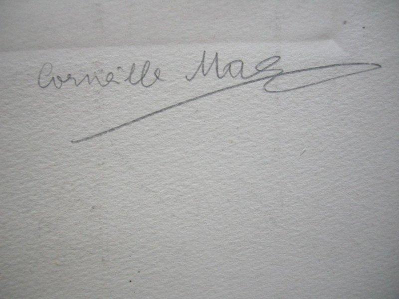 Corneille Max (1875-1924) Portrait Mina Gedon Orig Radierung 1910 signiert 2