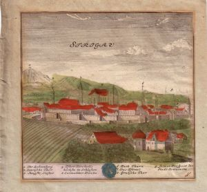 Strzegom Striegau Polen Schlesien Slask Swidnica Kupferstich F. B. Werner 1740