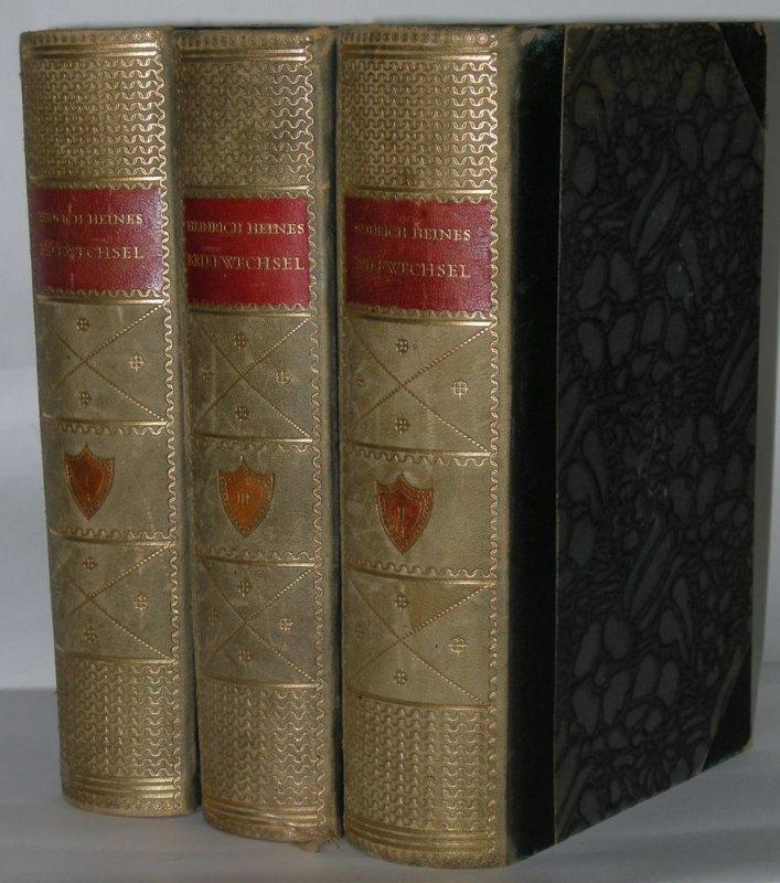 Heinrich Heine Briefwechsel Georg Müller 3 Bde 1914-1920 Halbleder