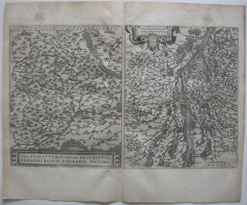 Oberpfalz Elsass Strassburg 2 Orig Kupferstichkarten Ortelius 1575