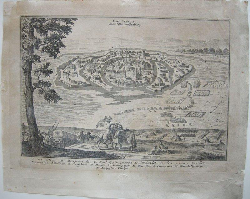 Székesfehérvár Stülweissenburg Ungarn Türken Orig Kupferstich Merian 1698