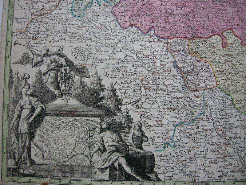 Oberlausitz Sachsen Kolor Orig Kupferstichkarte Seutter 1740