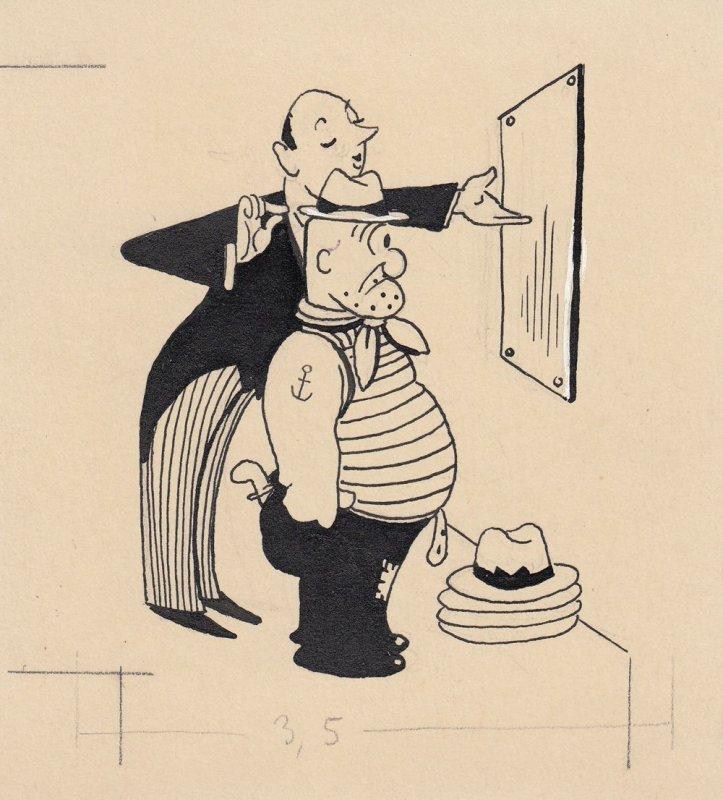 Otto Nückel (1880-1955) Im Hutladen Orig Tuschzeichnung  Simplicissimus 1954 0