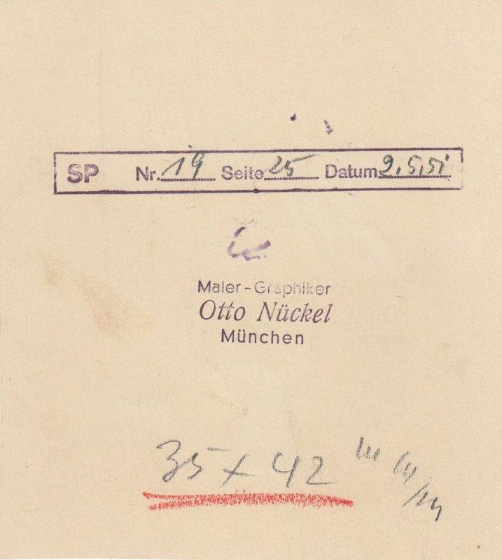 Otto Nückel (1880-1955) Im Hutladen Orig Tuschzeichnung  Simplicissimus 1954 1