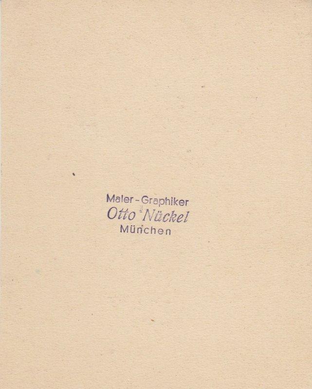 Otto Nückel (1880-1955) Sängerin Orig Tuschzeichnung  Simplicissimus 1950 1