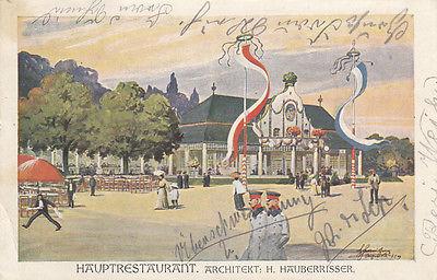 AK Regensburg Oberpfälzische Kreisausstellung 1910 Hauptrestaurant gel 1910