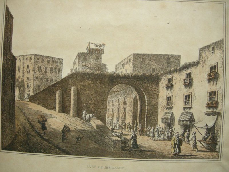 Luigi Mayer (1755-1803) Part of Jerusalem Israel Palästina Orig Aquatinta 1810