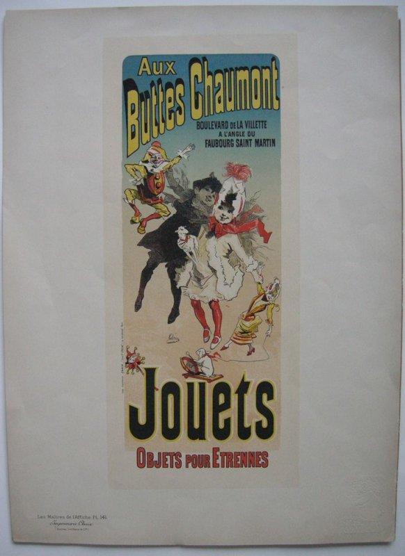 Jules Cheret (1836-1932) Buttes Chaumont Jouets Lithografie Maitres de l'affiche