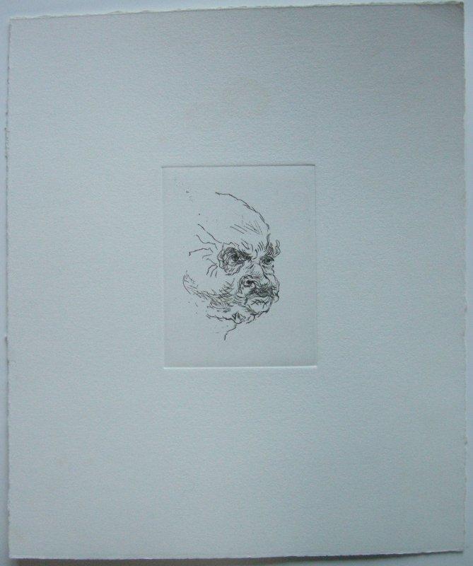 Ludwig Meidner (1884-1966) Selbstportrait Orig Radierung Nachlass 1984