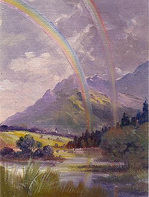 Seehausen am Staffelsee Ölskizze von Toni Erhard um 1930 Oberbayern