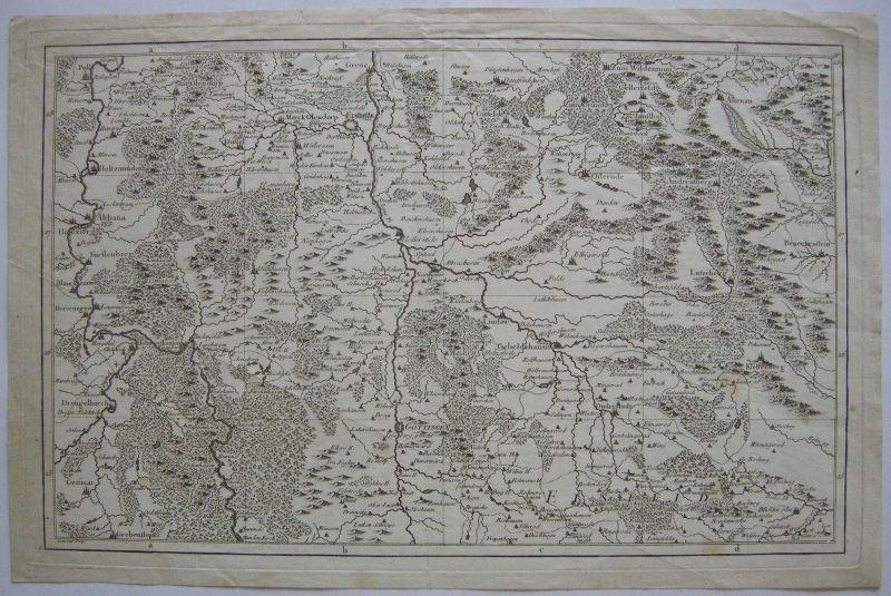 Niedersachsen Göttingen Orig. Kupferstichkarte ca. 1790