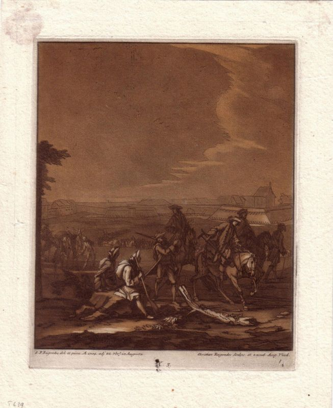 Christian Rugendas Belagerung  Mezzotino 1725