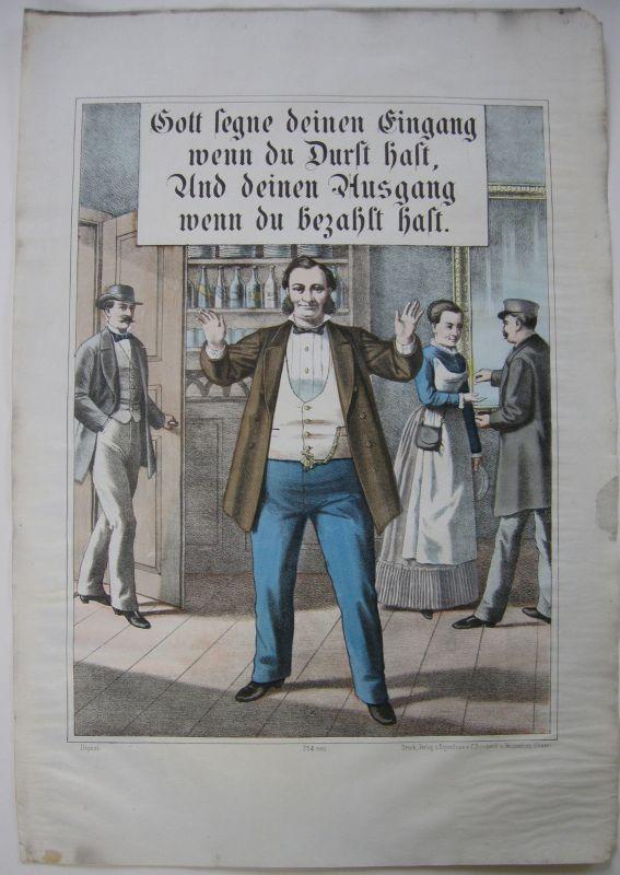 Bilderbogen Weissenburg Gastronomie Farlblithographie 1880  Nr. 754 Imagerie pop