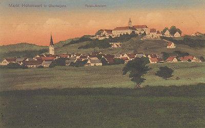 Ak Hohenwart Oberbayern Gesamtansicht gel 1912 Pfaffenhofen