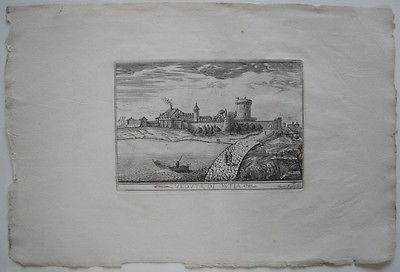 Veduta di Ostia Roma Italia Orig Kupferstich Silvestro Apponti 1745 Italien