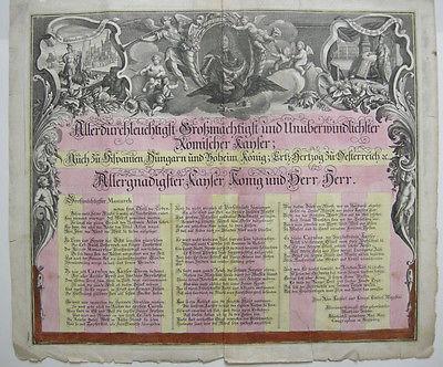 Seutter Widmungsblatt Atlas novus altkolor Kupferstich 1740 herrliche Kartusche